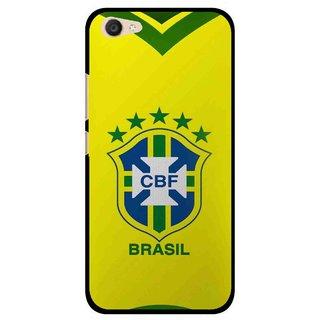 Snooky Printed Brasil Mobile Back Cover For Vivo V5 Plus - Yellow