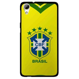 Snooky Printed Brasil Mobile Back Cover For HTC Desire 626 - Yellow
