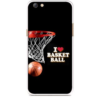 Snooky Printed Love Basket Ball Mobile Back Cover For Oppo F3 plus - Black