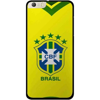 Snooky Printed Brasil Mobile Back Cover For Micromax Canvas Knight 2 E471 - Yellow