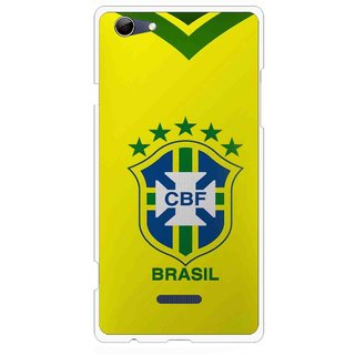 Snooky Printed Brasil Mobile Back Cover For Micromax Canvas Selfie 3 Q348 - Yellow