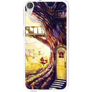 Snooky Printed Dream Home Mobile Back Cover For HTC Desire 820 - Multi