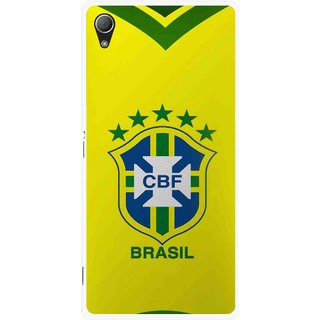 Snooky Printed Brasil Mobile Back Cover For Sony Xperia Z3 - Yellow