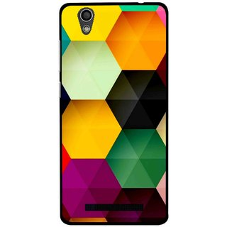 Snooky Printed Hexagon Mobile Back Cover For Gionee F103 - Multi