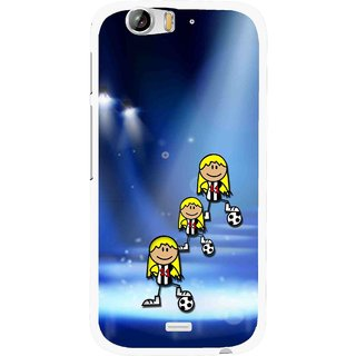 Snooky Printed Girls On Top Mobile Back Cover For Micromax Canvas Turbo A250 - Blue
