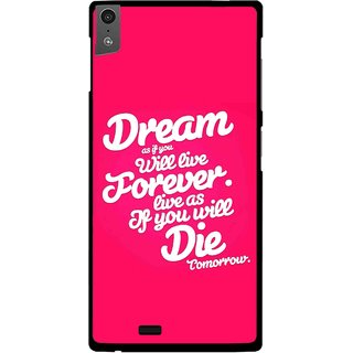 Snooky Printed Live the Life Mobile Back Cover For Gionee Elife S5.5 - Pink