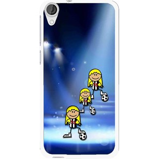 Snooky Printed Girls On Top Mobile Back Cover For HTC Desire 820 - Blue