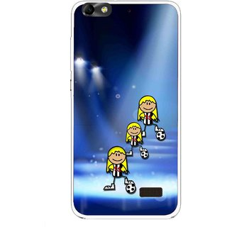 Snooky Printed Girls On Top Mobile Back Cover For Huawei Honor 4C - Blue
