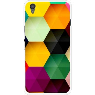 Snooky Printed Hexagon Mobile Back Cover For One Plus X - Multi