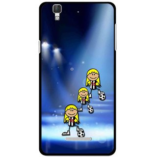 Snooky Printed Girls On Top Mobile Back Cover For Coolpad Dazen F2 - Blue