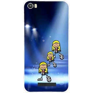 Snooky Printed Girls On Top Mobile Back Cover For Lava Iris X8 - Blue