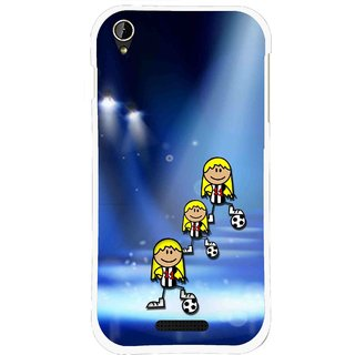 Snooky Printed Girls On Top Mobile Back Cover For Lava X1 Mini - Blue