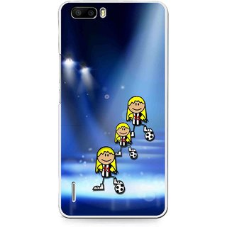 Snooky Printed Girls On Top Mobile Back Cover For Huawei Honor 6 Plus - Blue