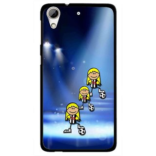 Snooky Printed Girls On Top Mobile Back Cover For HTC Desire 626 - Blue