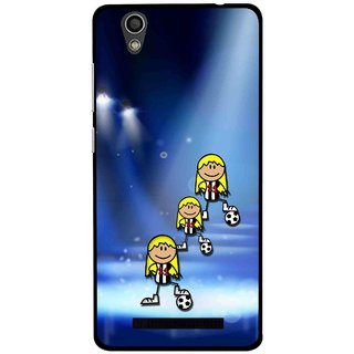 Snooky Printed Girls On Top Mobile Back Cover For Gionee F103 - Blue
