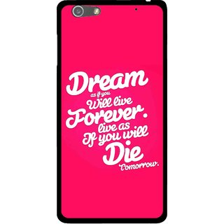 Snooky Printed Live the Life Mobile Back Cover For Oppo R1 - Pink