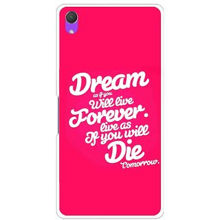 Snooky Printed Live the Life Mobile Back Cover For Sony Xperia Z2 - Pink