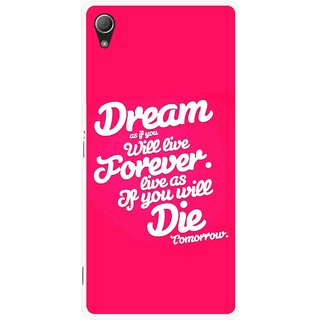 Snooky Printed Live the Life Mobile Back Cover For Sony Xperia Z3 - Pink