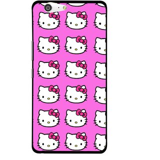 Snooky Printed Pink Kitty Mobile Back Cover For Gionee Marathon M5 - Pink