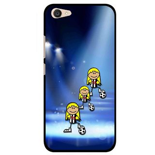 Snooky Printed Girls On Top Mobile Back Cover For Vivo V5 Plus - Blue