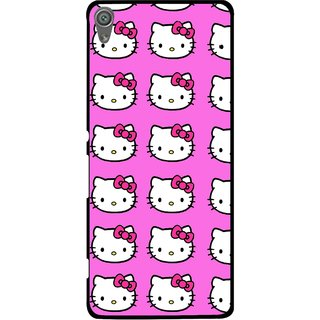 Snooky Printed Pink Kitty Mobile Back Cover For Sony Xperia XA1 - Pink