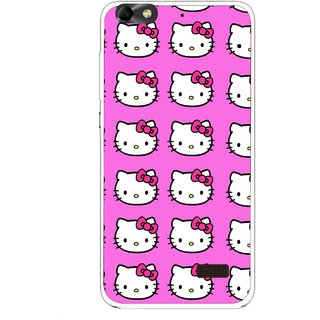 Snooky Printed Pink Kitty Mobile Back Cover For Huawei Honor 4C - Pink