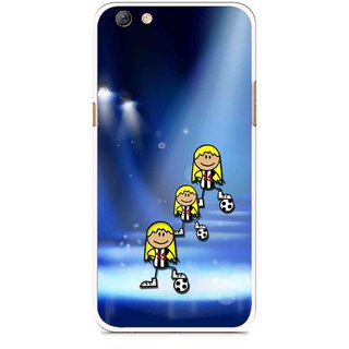 Snooky Printed Girls On Top Mobile Back Cover For Oppo F3 plus - Blue