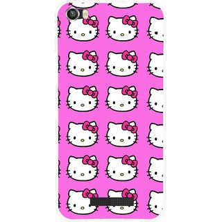 Snooky Printed Pink Kitty Mobile Back Cover For Lava Iris X8 - Pink