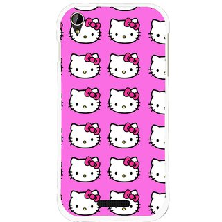 Snooky Printed Pink Kitty Mobile Back Cover For Lava X1 Mini - Pink
