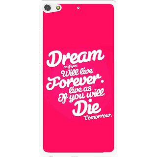 Snooky Printed Live the Life Mobile Back Cover For Gionee Elife S7 - Pink