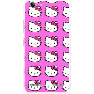 Snooky Printed Pink Kitty Mobile Back Cover For Lenovo Vibe K5 Plus - Pink