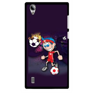 Snooky Printed My Game Mobile Back Cover For Vivo Y15 - Puple