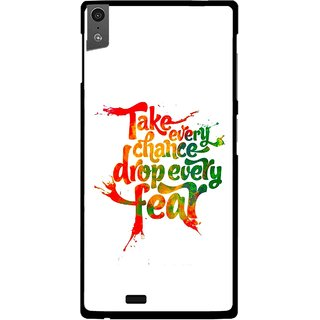 Snooky Printed Drop Fear Mobile Back Cover For Gionee Elife S5.5 - White