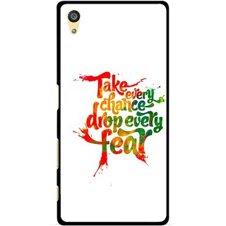 Snooky Printed Drop Fear Mobile Back Cover For Sony Xperia Z5 Plus - White