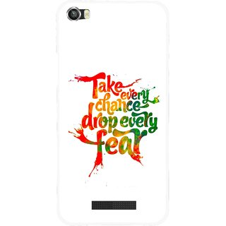 Snooky Printed Drop Fear Mobile Back Cover For Lava Iris X8 - White