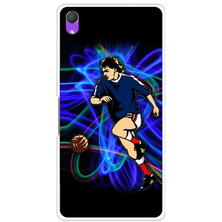 Snooky Printed Football Passion Mobile Back Cover For Sony Xperia Z2 - Black
