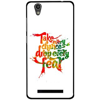 Snooky Printed Drop Fear Mobile Back Cover For Gionee F103 - White