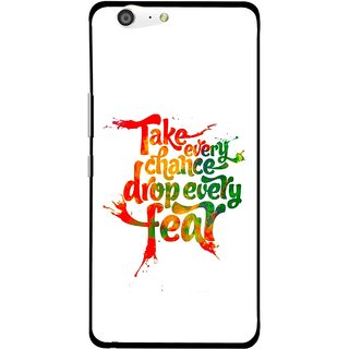 Snooky Printed Drop Fear Mobile Back Cover For Gionee Marathon M5 - White