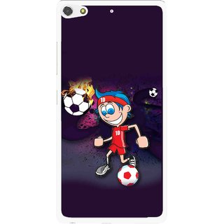 Snooky Printed My Game Mobile Back Cover For Gionee Elife S7 - Puple