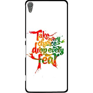 Snooky Printed Drop Fear Mobile Back Cover For Sony Xperia XA1 - White