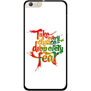 Snooky Printed Drop Fear Mobile Back Cover For Micromax Canvas Knight 2 E471 - White