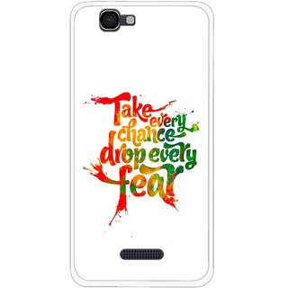 Snooky Printed Drop Fear Mobile Back Cover For Micromax Canvas 2 A120 - White