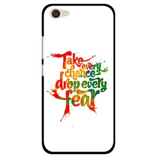 Snooky Printed Drop Fear Mobile Back Cover For Vivo V5 Plus - White