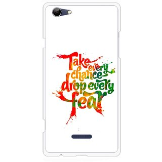 Snooky Printed Drop Fear Mobile Back Cover For Micromax Canvas Selfie 3 Q348 - White