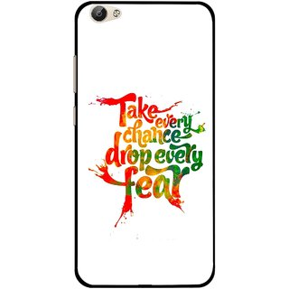 Snooky Printed Drop Fear Mobile Back Cover For Vivo Y55 - White