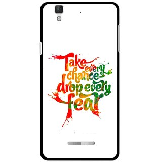 Snooky Printed Drop Fear Mobile Back Cover For Micromax Yu Yureka Plus - White
