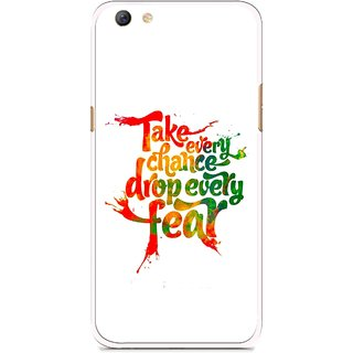 Snooky Printed Drop Fear Mobile Back Cover For Oppo F3 plus - White