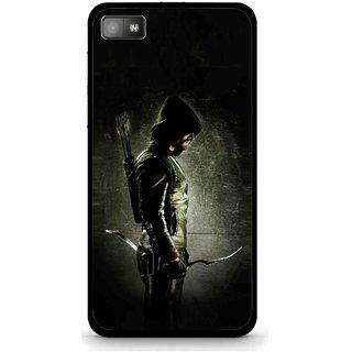 Snooky Printed Hunting Man Mobile Back Cover For Blackberry Z10 - Black