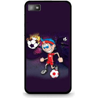 Snooky Printed My Game Mobile Back Cover For Blackberry Z10 - Puple