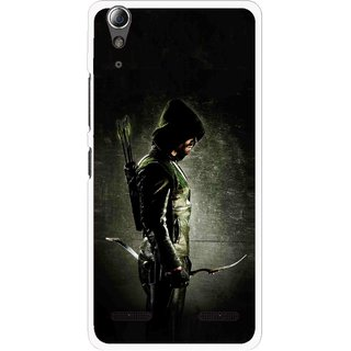 Snooky Printed Hunting Man Mobile Back Cover For Lenovo A6000 - Black